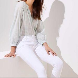 NWOT LOFT white skinny jeans